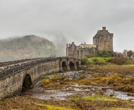 The way to Eilean Donan Castle