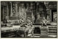 apen voor de tempel