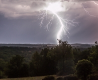 Onweer boven Lot