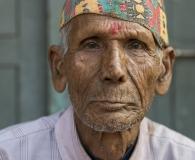 A wrinkled face