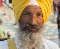 Sikh in yellow