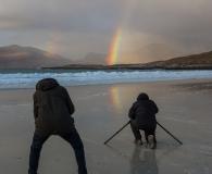 Rainbow at Luskentyre beach