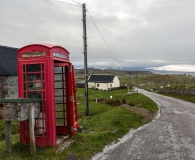 the phone at Stoer Cottage