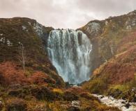 Waterfall at Knockan Crag Trail
